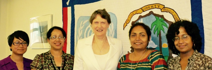 Shakti team with Helen Clark, former prime minister of NZ